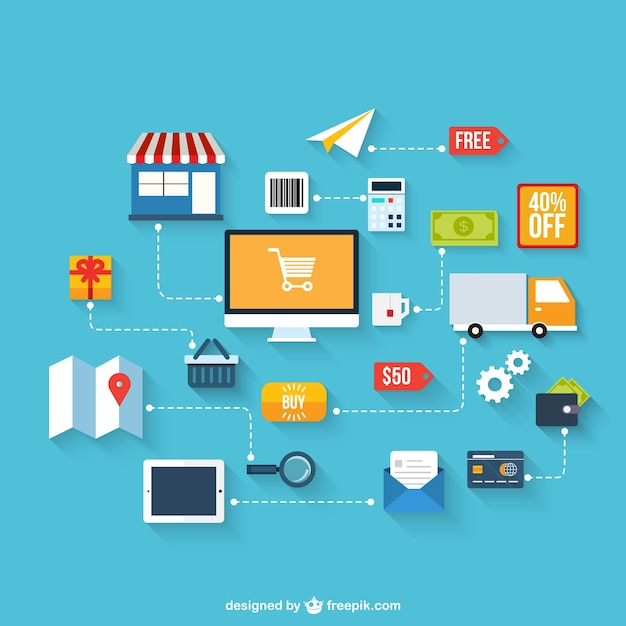 E-business infographic Free Vector