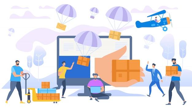 E-commerce sales Premium Vector