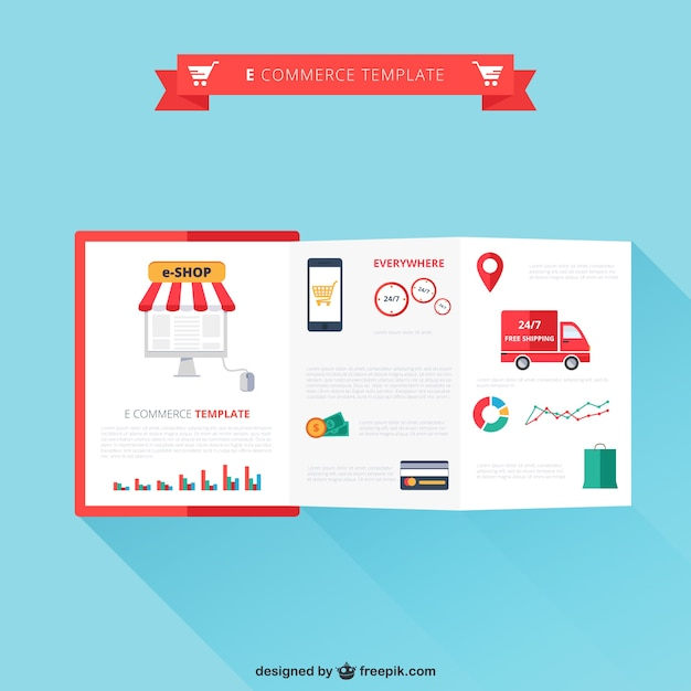 e commerce template free vector