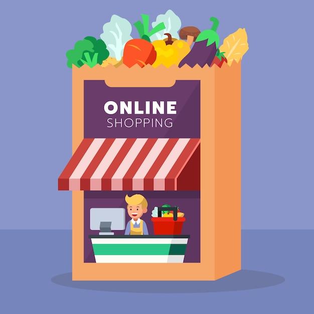 E - commerce Premium Vector