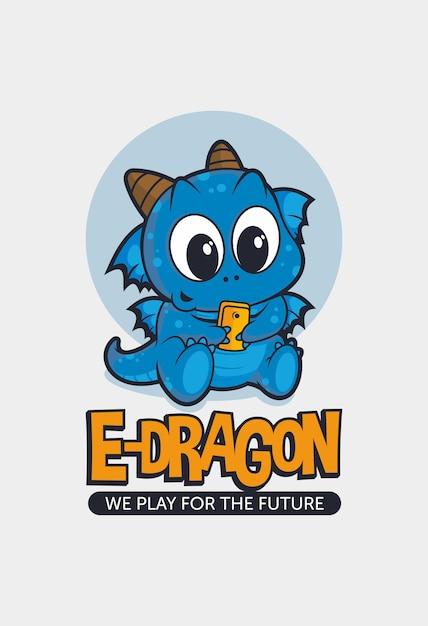 E-dragon Premium Vector