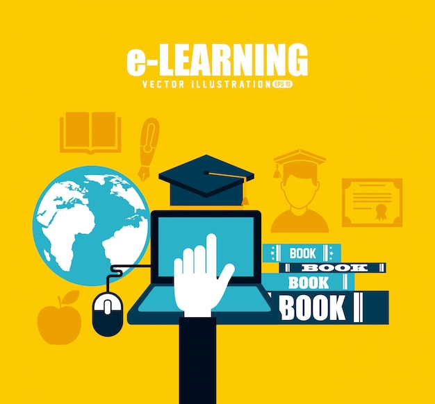 E-learning Premium Vector