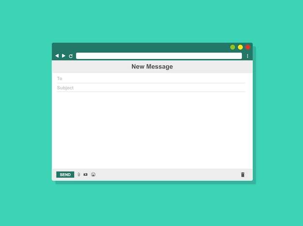 E-mail blank template internet mail frame, vector illustration Premium Vector