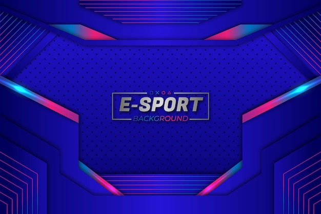 Eスポーツの背景ブルースタイル Premiumベクター