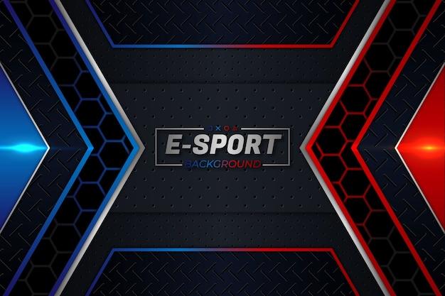 E- 스포츠 배경 빨간색과 파란색 스타일 프리미엄 벡터