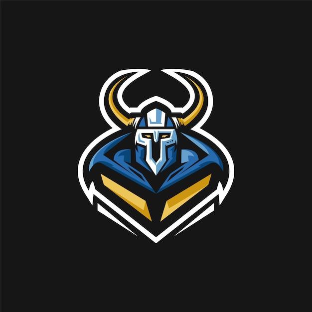 E-sports team logo with viking Premium Vector
