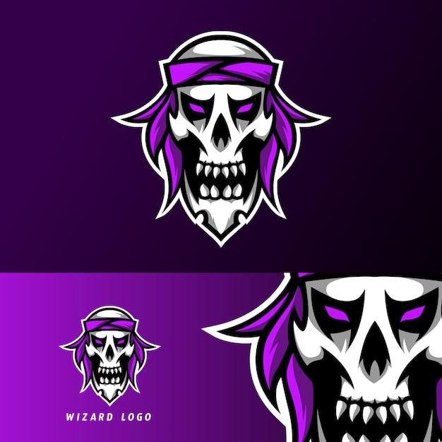 反逆者海賊スポーツeスポーツのロゴのテンプレートデザインスカルヘッドバンド Premiumベクター