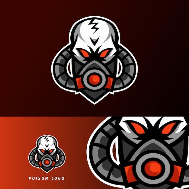有毒な毒マスクスポーツeスポーツのロゴのテンプレートデザイン Premiumベクター