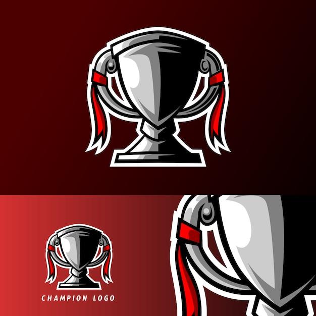 ゴールドシルバーチャンピオントロフィーゲームスポーツeスポーツのロゴのテンプレート Premiumベクター