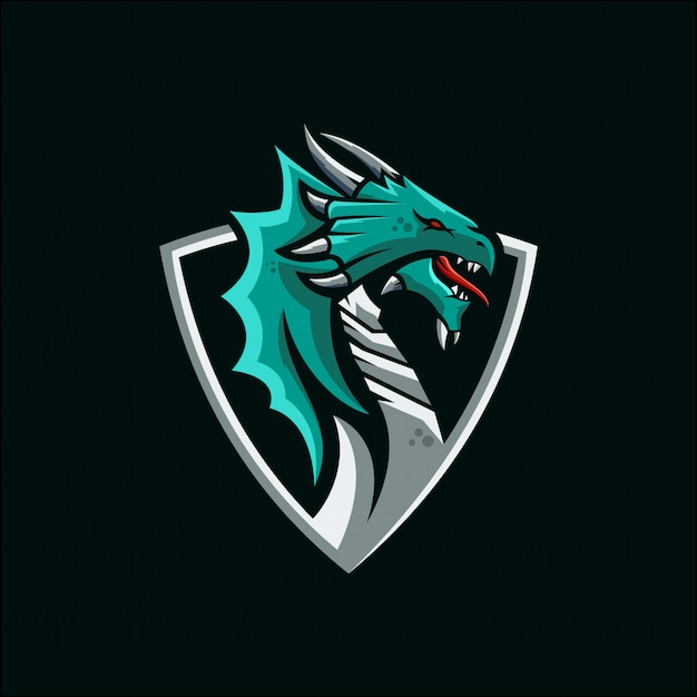 ドラゴンのeスポーツのロゴ Premiumベクター