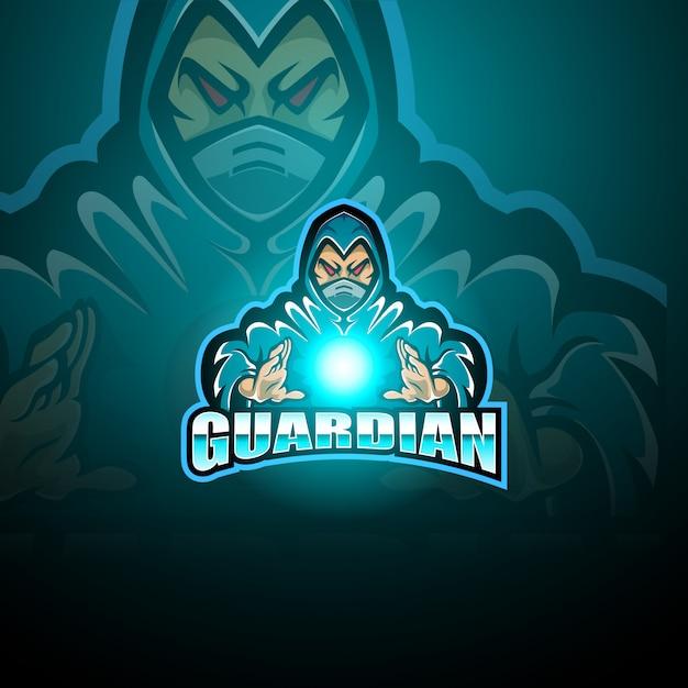 ガーディアンeスポーツマスコットロゴ Premiumベクター