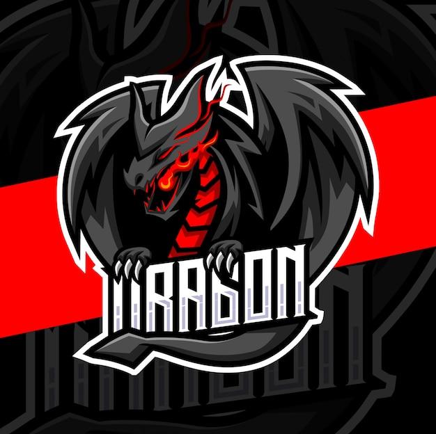 ドラゴンマスコットeスポーツのロゴデザイン Premiumベクター