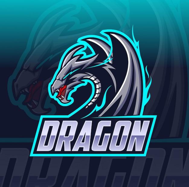 ドラゴンマスコットeスポーツのロゴ Premiumベクター