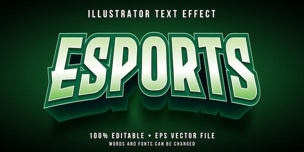 編集可能なテキストエフェクト-eスポーツゲーミングロゴスタイル Premiumベクター