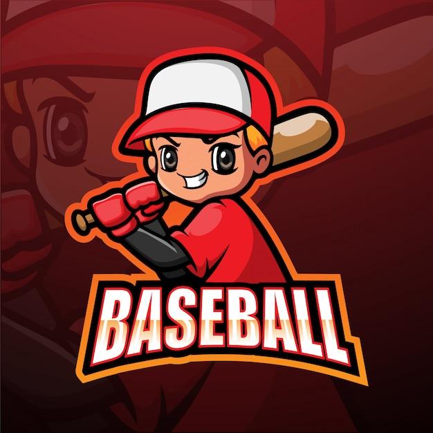 野球マスコットeスポーツイラスト Premiumベクター