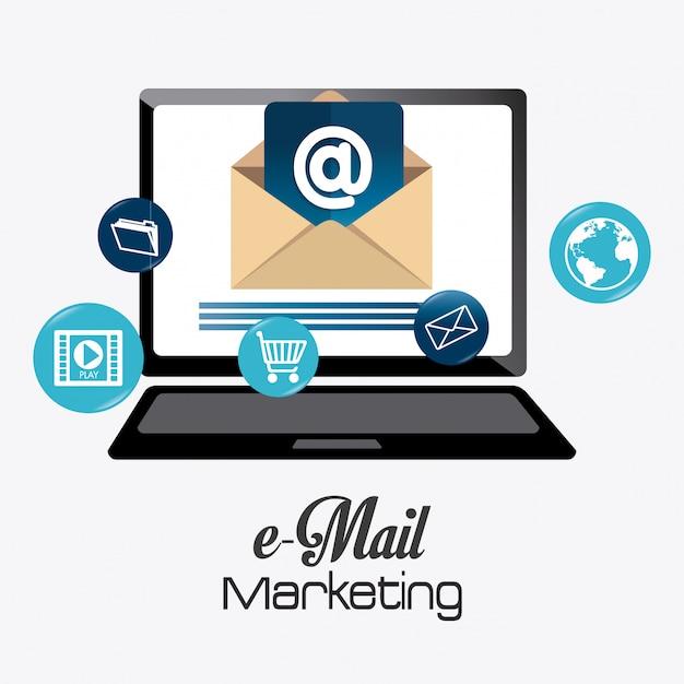 Eメールマーケティングデザイン Premiumベクター