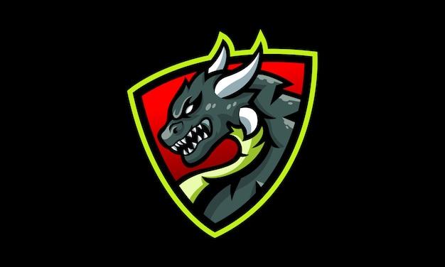 ドラゴンシールドeスポーツロゴ Premiumベクター