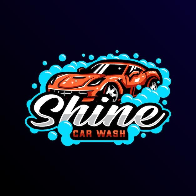 洗車マスコットロゴeスポーツゲーミング Premiumベクター