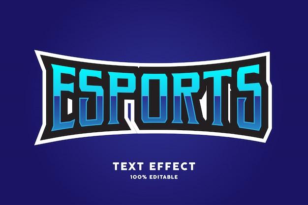 青いeスポーツスタイルのテキスト効果 Premiumベクター