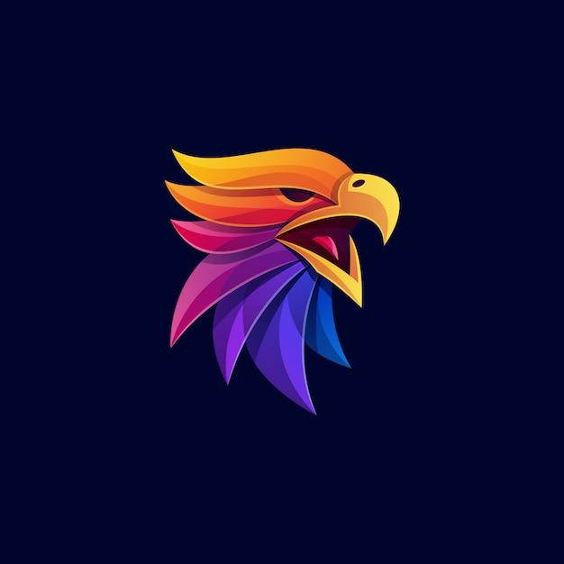 Орел красочный дизайн иллюстрация векторный шаблон Premium векторы