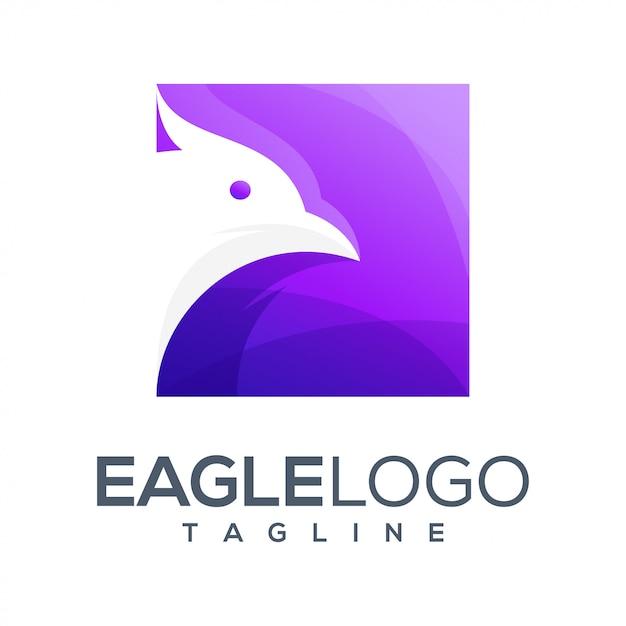 Орел красочный дизайн логотипа Premium векторы