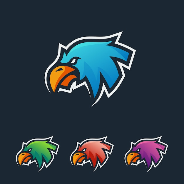 Eagle esport logo Premium Vector