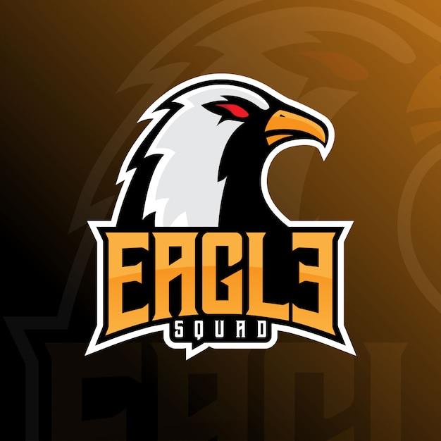 Eagle falcon team e-sport mascot logo Premium Vector