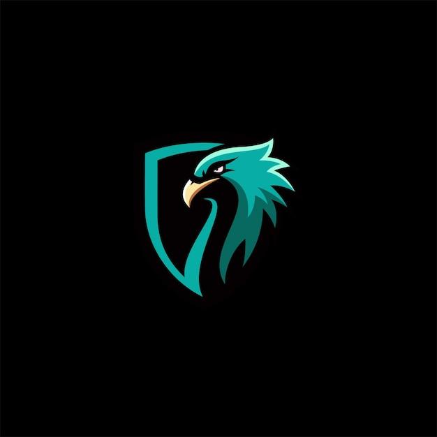 Eagle full color logo Premium Vector