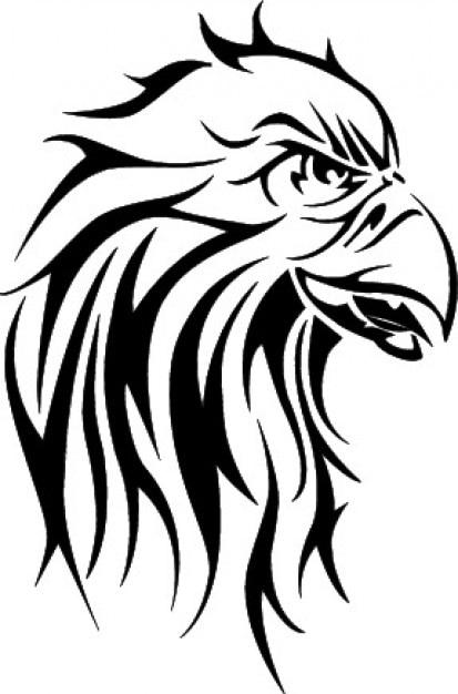 eagle head clipart vector