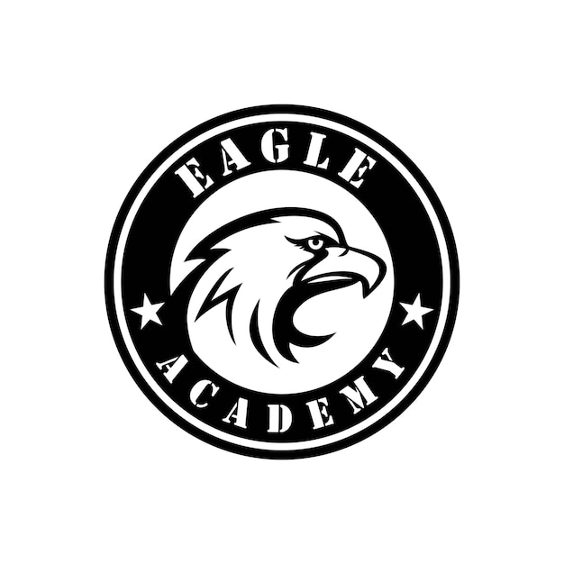 Eagle head emblem logo template Vector | Premium Download