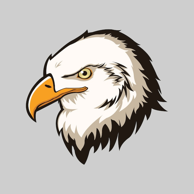 Eagle head isolated background Free Vector