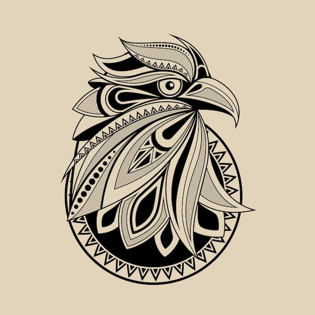 Рисунок головы орла для печати плакатов, футболок, открыток Premium векторы