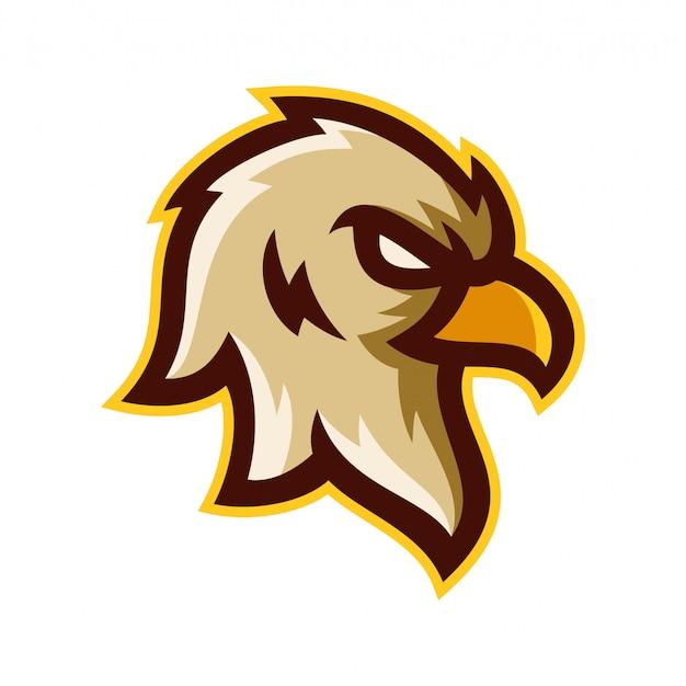 Eagle head logo template vector illustration Vector
