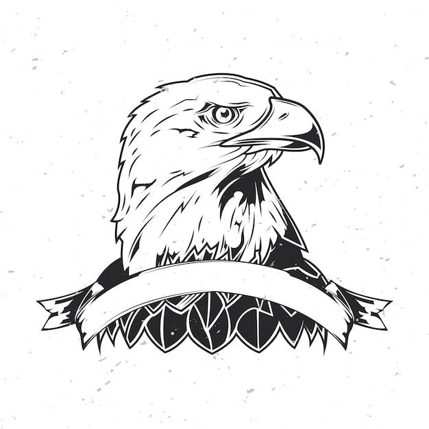 Голова орла. Premium векторы