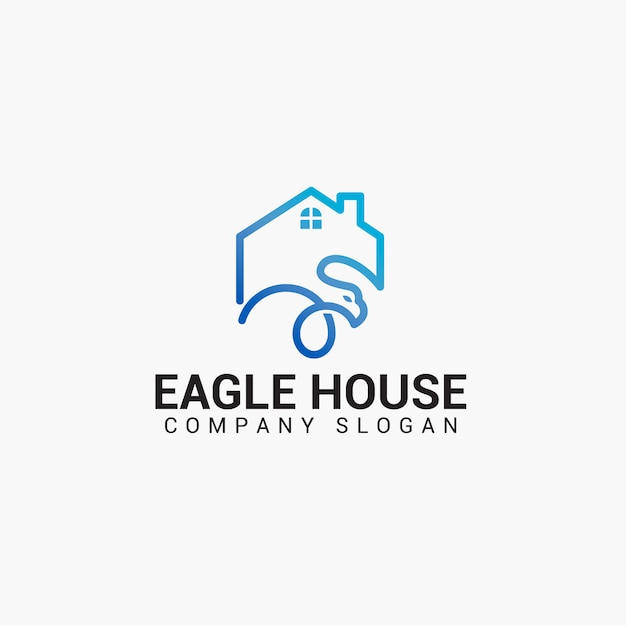 Eagle house logo Premium векторы