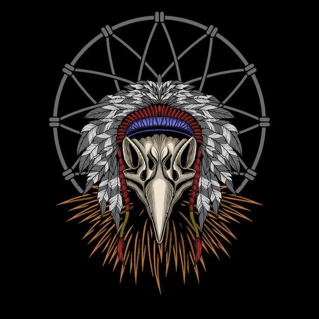 Eagle indian skull vector illustration Premium Vector