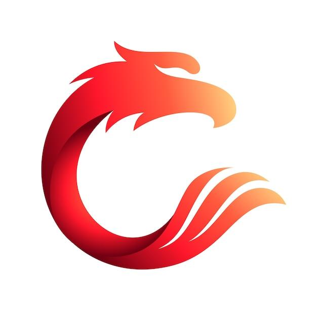 Eagle letter c logo Premium Vector