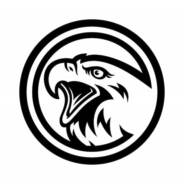 スポーツチームのイーグルロゴ Premiumベクター