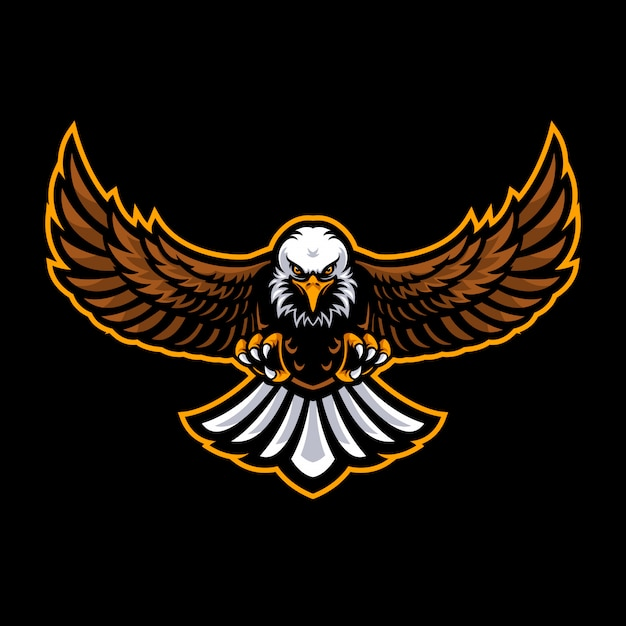 Eagle logo for a sport team Premium Vector