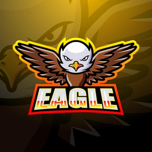 Eagle mascot esport illustration Premium Vector