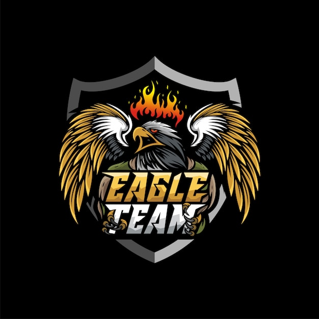 Eagle mascot esport logo Premium Vector