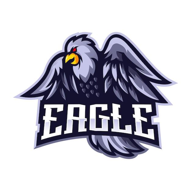 Вектор дизайна логотипа талисмана орла с современным стилем концепции иллюстрации для печати значков, эмблем и футболок. белый орел для спортивной команды Premium векторы