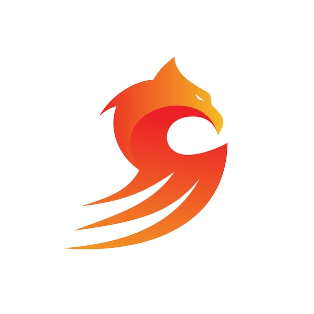 Eagle mascot logo vector Premium Vector