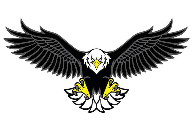 Eagle mascot spread the wings Premium Vector