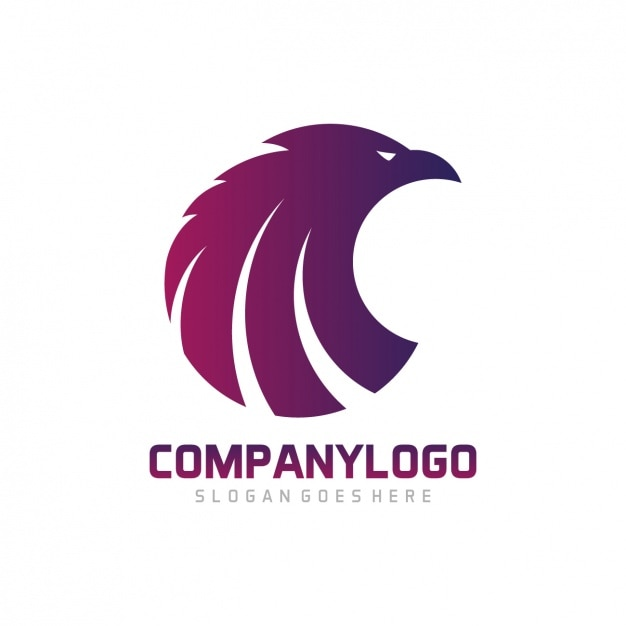 eagle shape logo template design vector free download