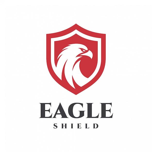 Eagle shield logo Premium Vector