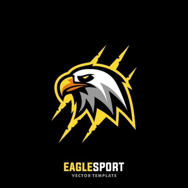 Eagle sport concept designs illustration vector template Premium Vector