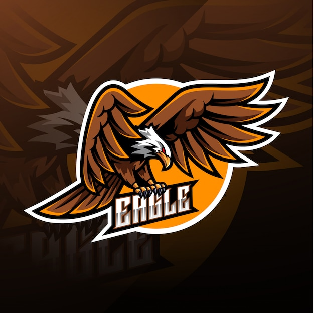 Eagle sport mascot logo Premium Vector