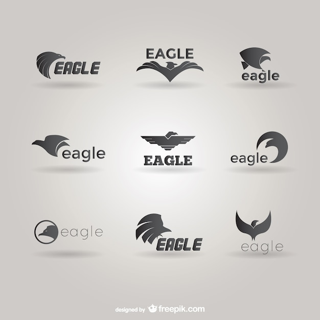 Eagles logo template pack Free Vector