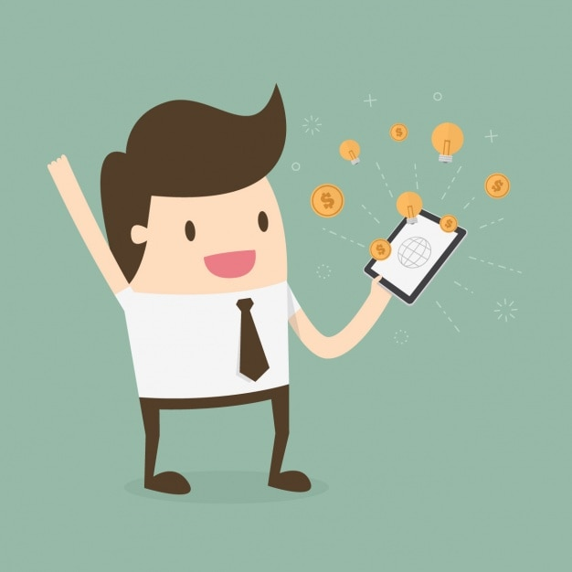 Earning money in internet design Free Vector